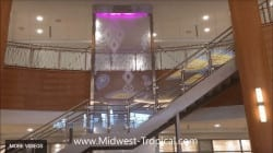 Custom Water Wall Sealed Enclosed Glass Waterfall