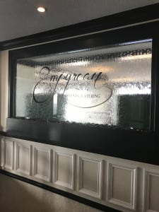 Glass Water Wall with logo